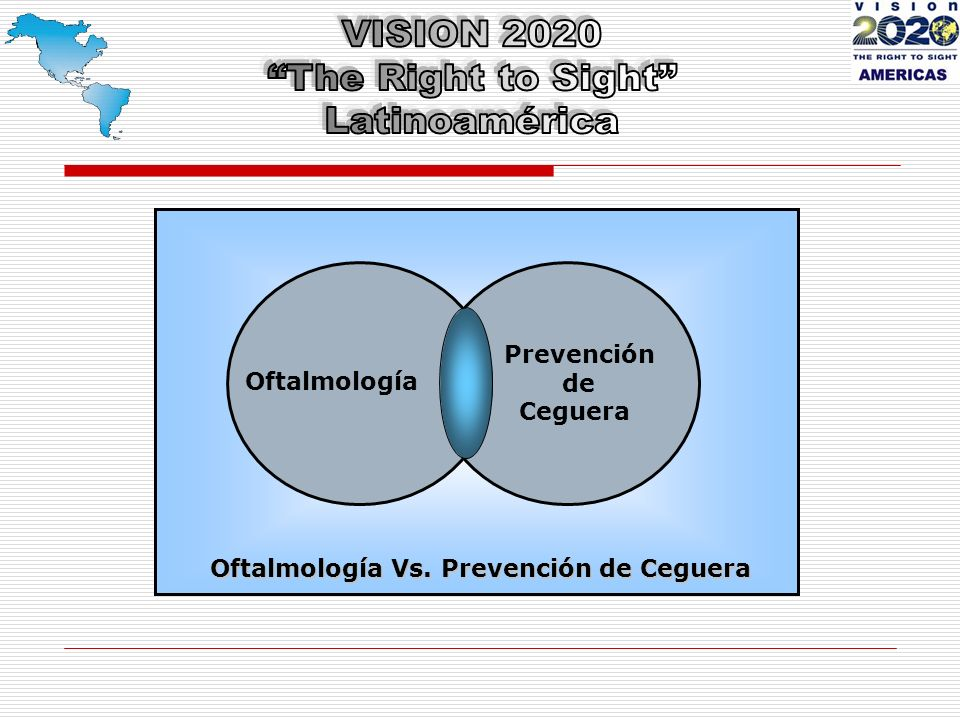 Distribuci ó n mundial de la ceguera por patolog í a Catarata5% Glaucoma18% Otras4% DMAE50% Ceg.