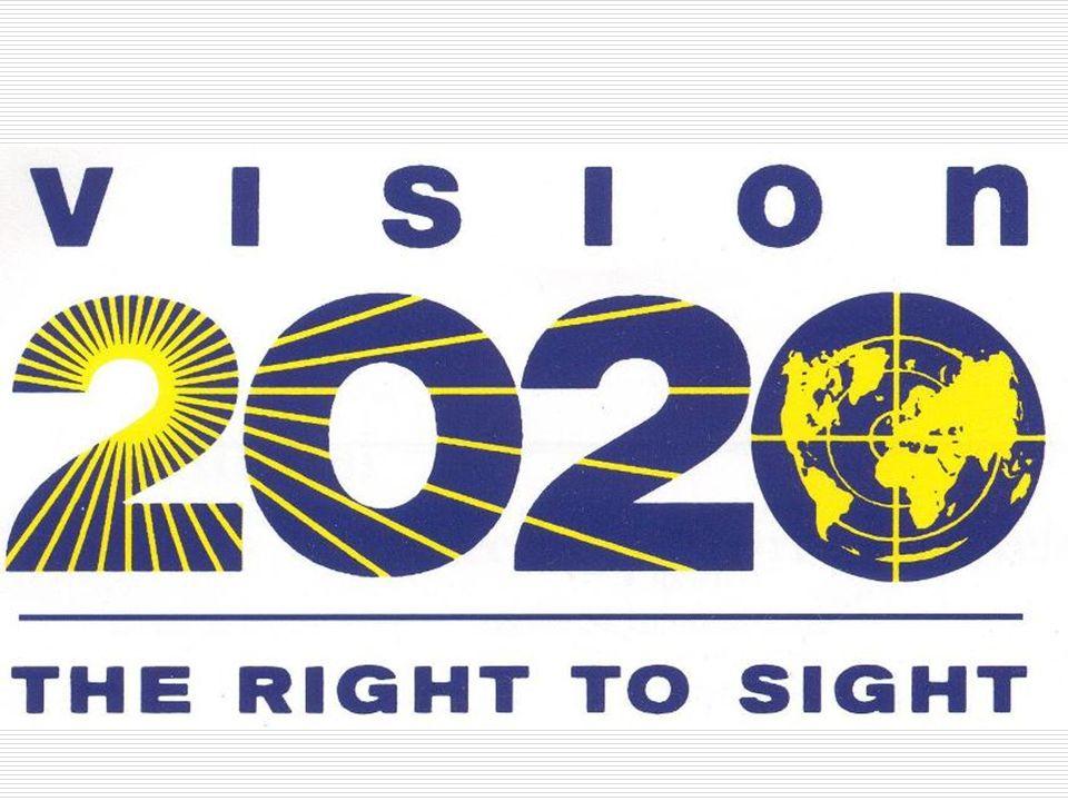 l 1994 - Grupo de Trabajo (Task Force) l 1997 - Iniciativa Global para la Eliminación de Ceguera Evitable l 1999 - Lanzamiento de VISIÓN 2020