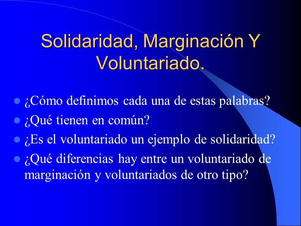 ¿ES POSIBLE UNA CULTURA DE LA SOLIDARIDAD? Autores: Reyes González Castaño Jorge Enríquez Muñoz