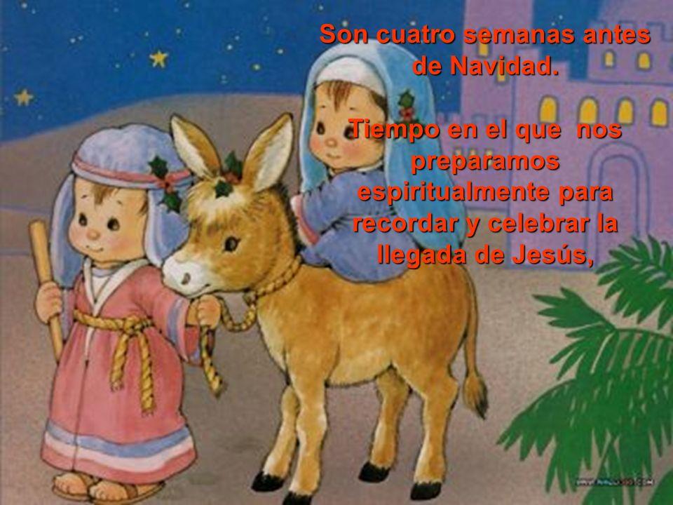 María esperó el nacimiento de su hijo, el hijo de DIOS, el Salvador. Adviento es tiempo de espera y de preparación. Adviento.