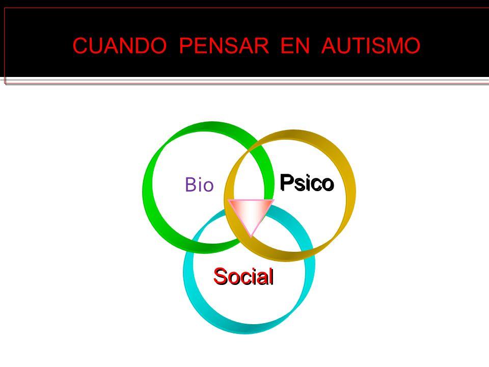 Bio Psico Social CUANDO PENSAR EN AUTISMO
