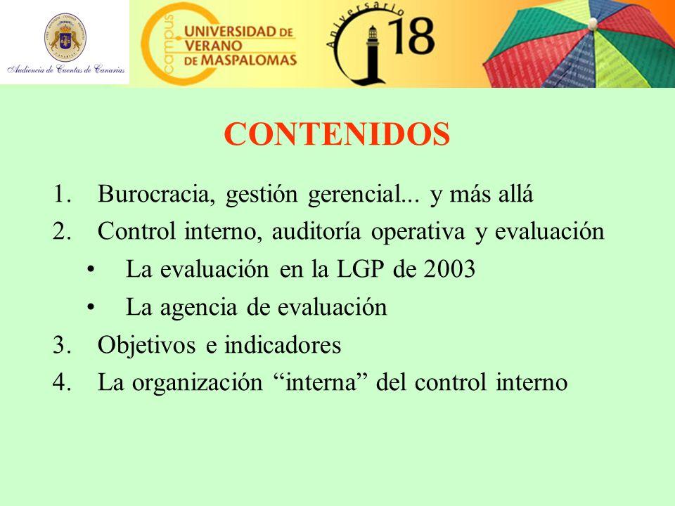 CONTENIDOS 1.Burocracia, gestión gerencial...
