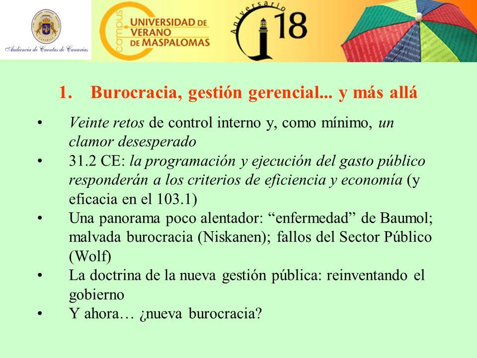 1.Burocracia, gestión gerencial...