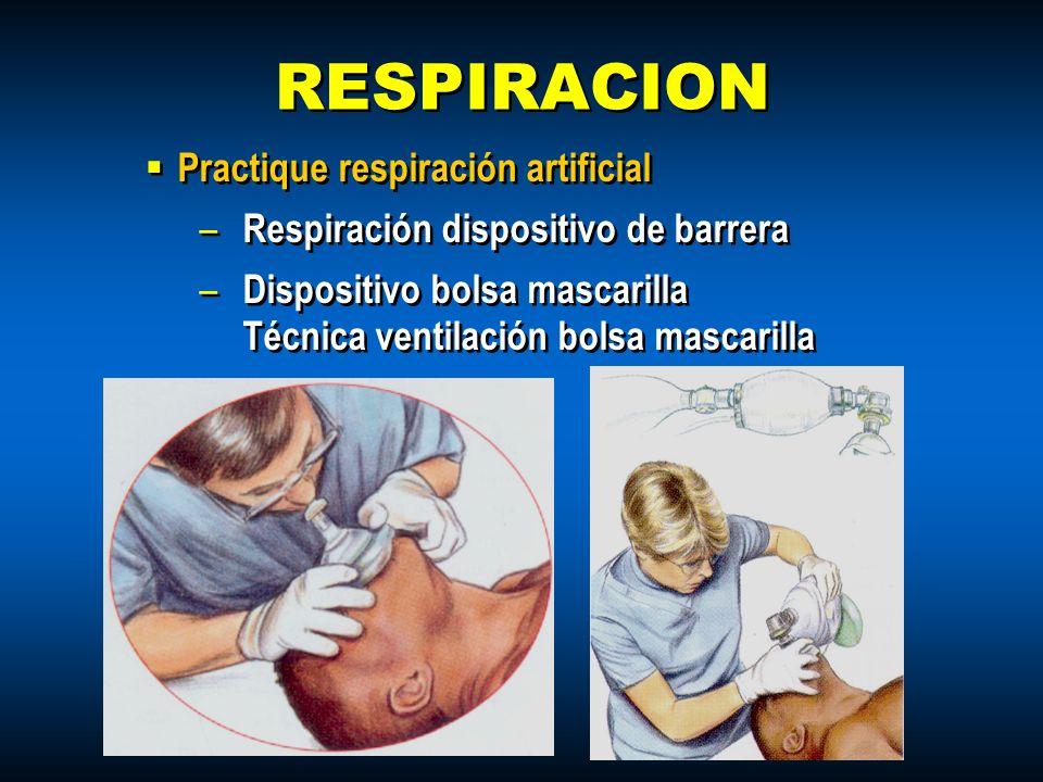 Practique respiración artificial – Respiración dispositivo de barrera – Dispositivo bolsa mascarilla Técnica ventilación bolsa mascarilla Practique re