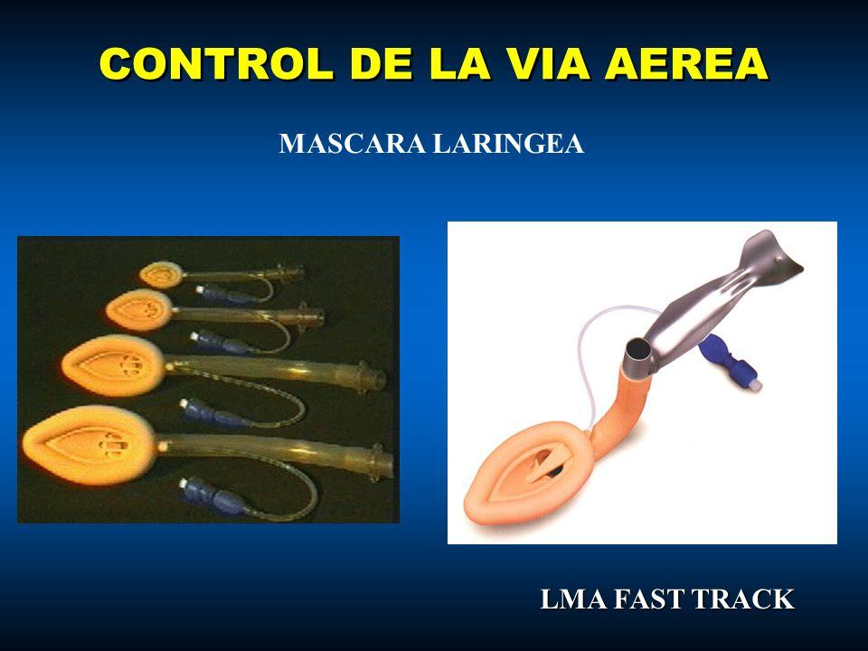 CONTROL DE LA VIA AEREA MASCARA LARINGEA LMA FAST TRACK