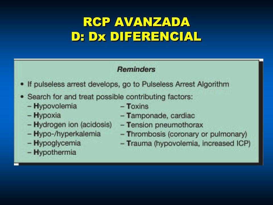 RCP AVANZADA D: Dx DIFERENCIAL