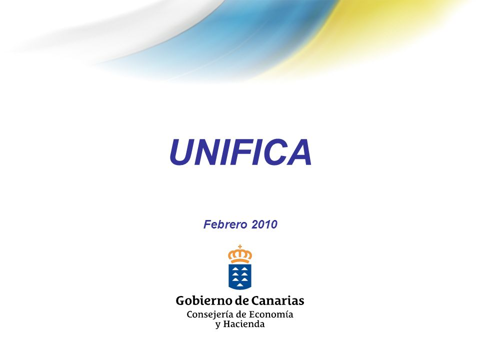 UNIFICA SISTEMA INTEGRADO DE INFORMACIÓN ECONÓMICO FINANCIERA Y DE INFRAESTRUCTURA Y EQUIPAMIENTOS LOCALES DE CANARIAS.