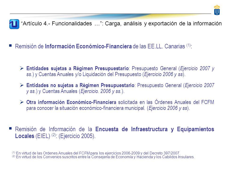 Remisión de Información Económico-Financiera de las EE.LL.