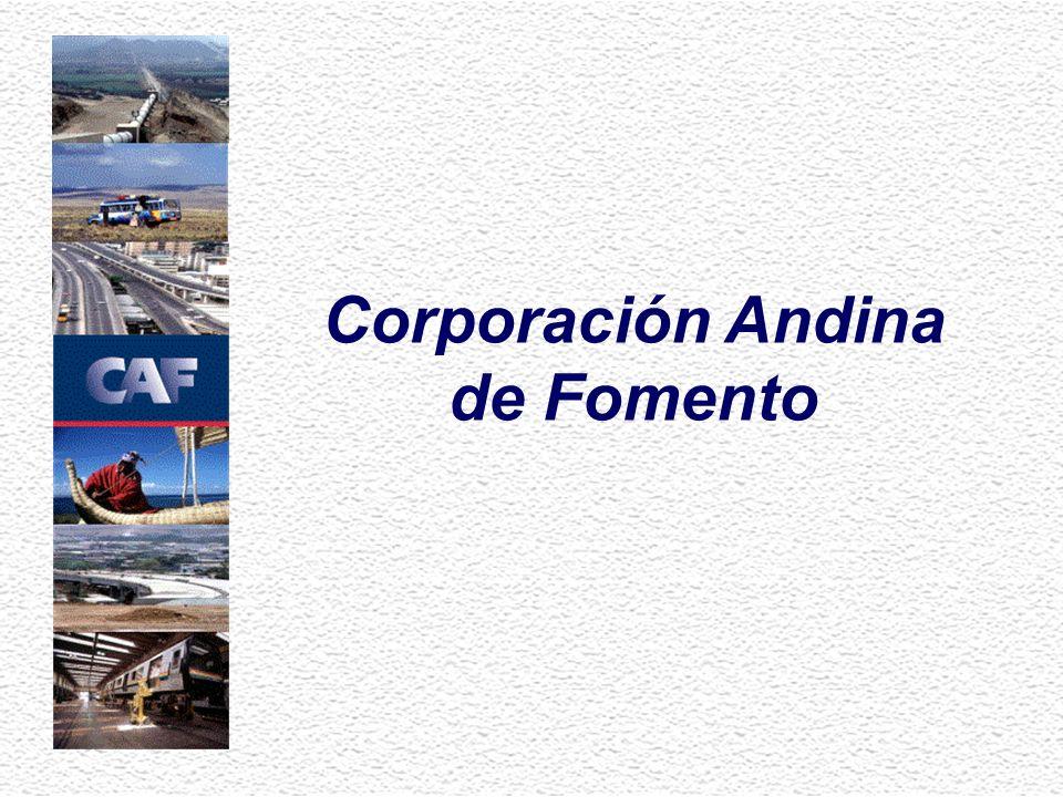 Principal fuente de financiamiento multilateral para la región andina...