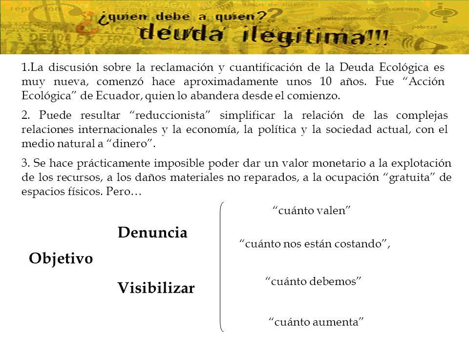 No se trata de mercantilizar la Naturaleza, sino de usar el lenguaje y las ideas del pensamiento único [1] [1] [1] Quién debe a quién.