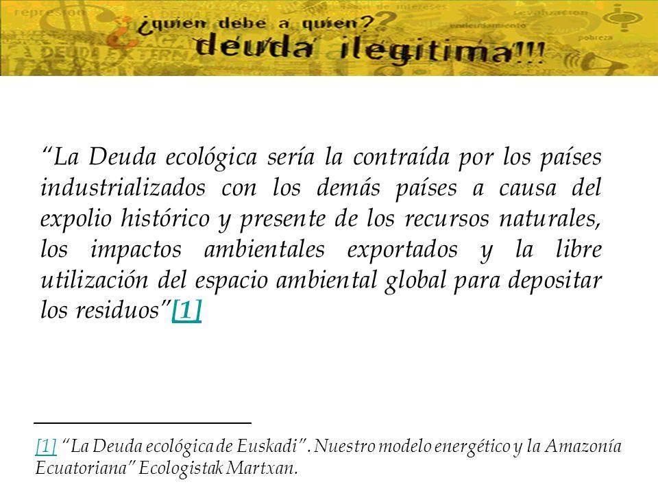 3.Enfoque Sectorial Deuda Ecológica: 1.La Deuda del Carbono.