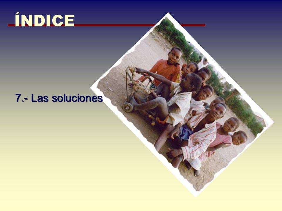 ÍNDICE 7.- Las soluciones