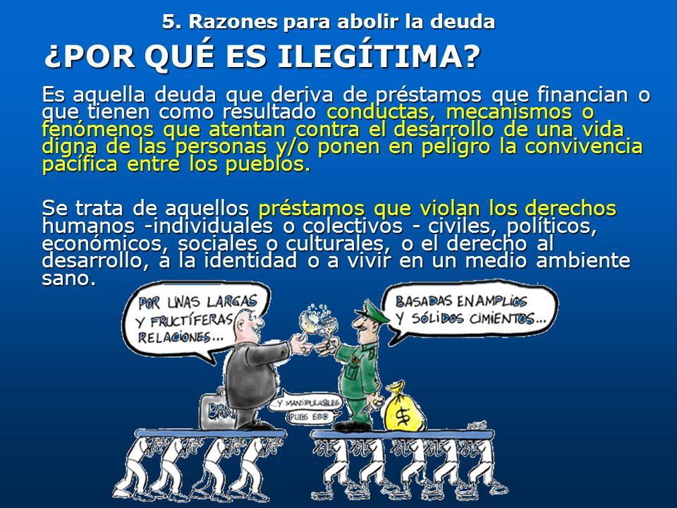 Es aquella deuda que deriva de préstamos que financian o que tienen como resultado conductas, mecanismos o fenómenos que atentan contra el desarrollo