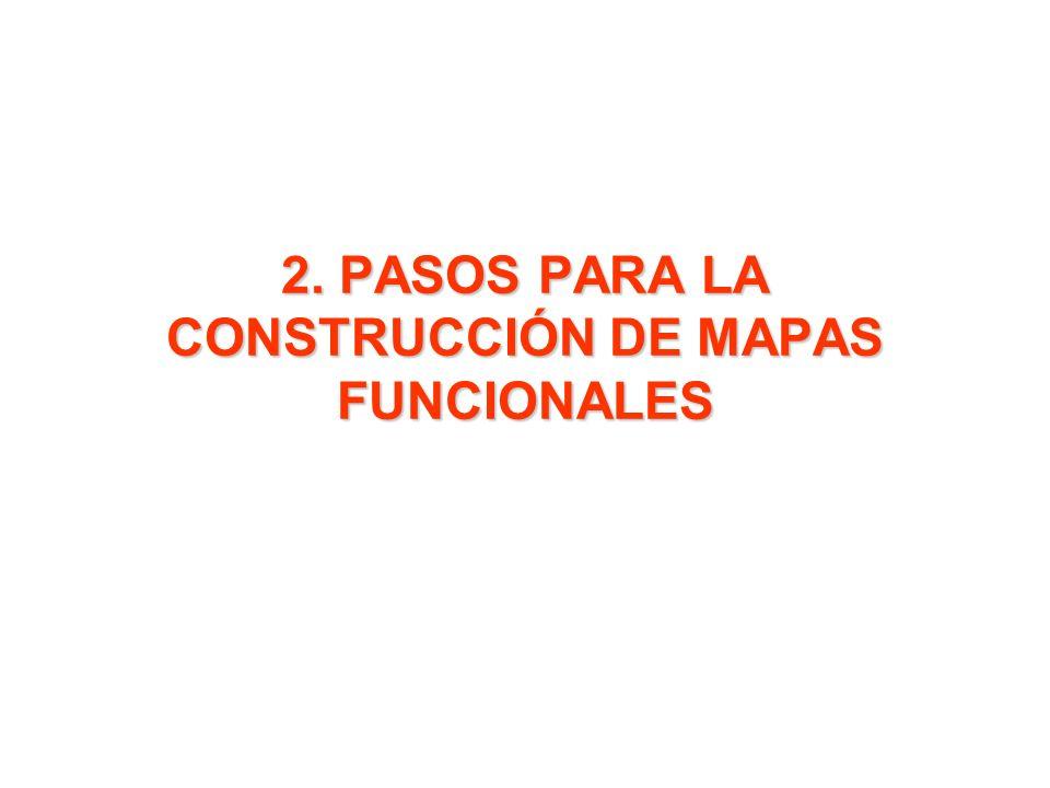 2. PASOS PARA LA CONSTRUCCIÓN DE MAPAS FUNCIONALES