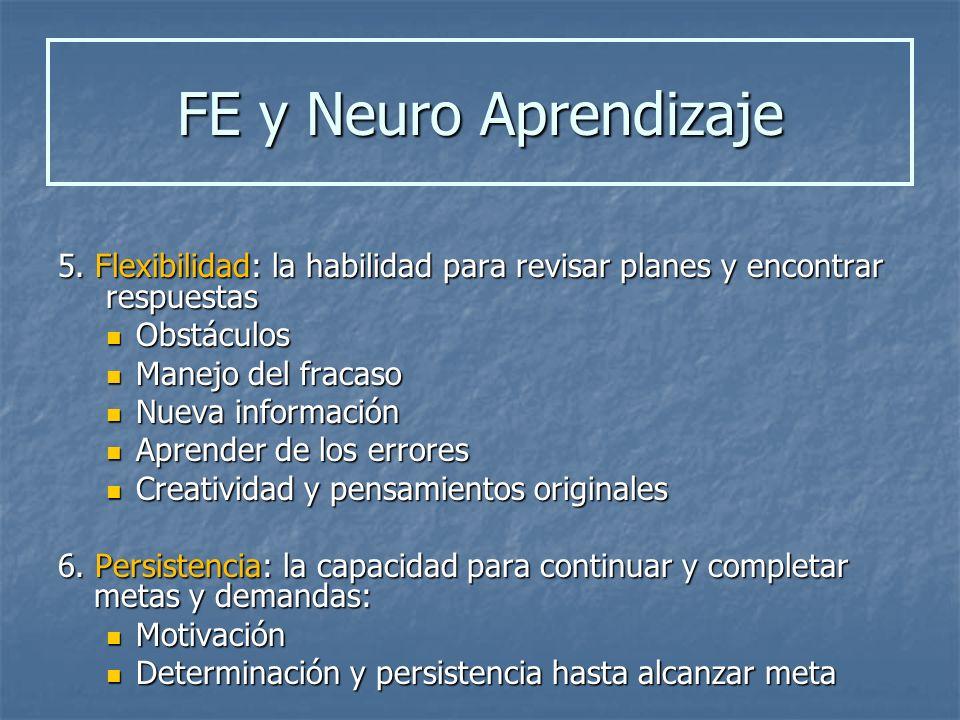 5. Flexibilidad: la habilidad para revisar planes y encontrar respuestas Obstáculos Obstáculos Manejo del fracaso Manejo del fracaso Nueva información