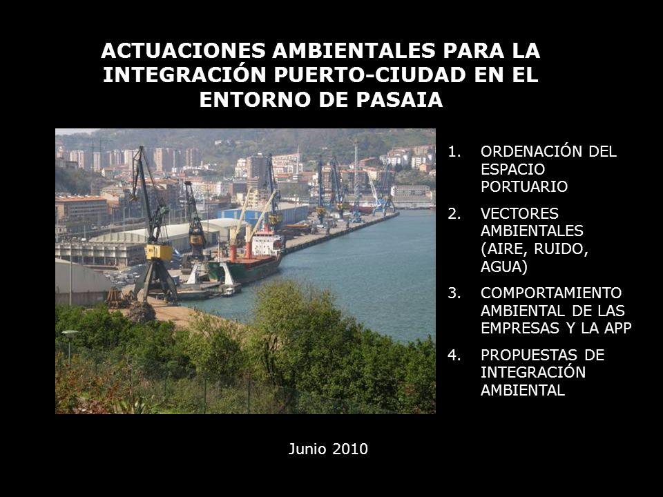 ACTUACIONES AMBIENTALES PARA LA INTEGRACIÓN PUERTO-CIUDAD EN EL ENTORNO DE PASAIA Junio 2010 1.ORDENACIÓN DEL ESPACIO PORTUARIO 2.VECTORES AMBIENTALES