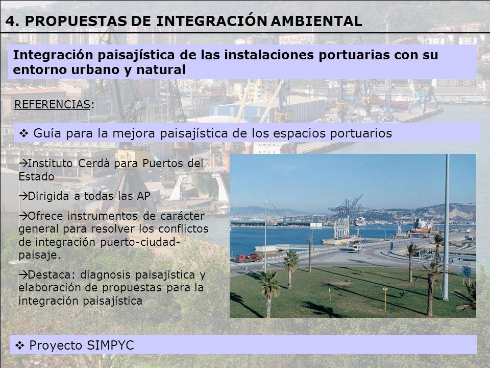 Guía para la mejora paisajística de los espacios portuarios REFERENCIAS REFERENCIAS: Instituto Cerdà para Puertos del Estado Dirigida a todas las AP O