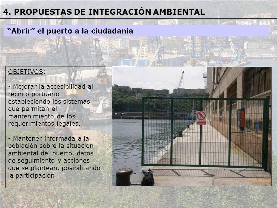 OBJETIVOS OBJETIVOS: - Mejorar la accesibilidad al recinto portuario estableciendo los sistemas que permitan el mantenimiento de los requerimientos le