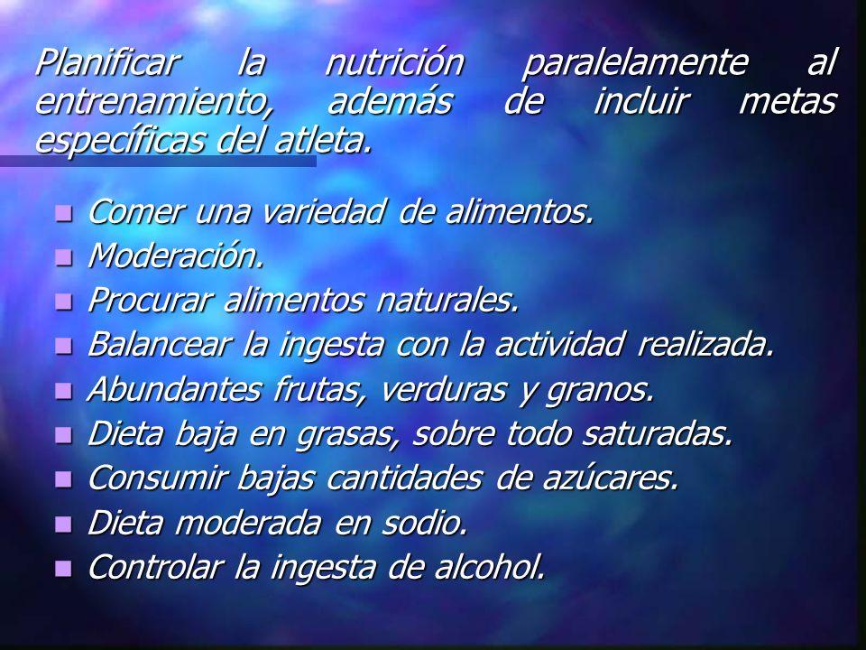 Comer una variedad de alimentos. Comer una variedad de alimentos. Moderación. Moderación. Procurar alimentos naturales. Procurar alimentos naturales.