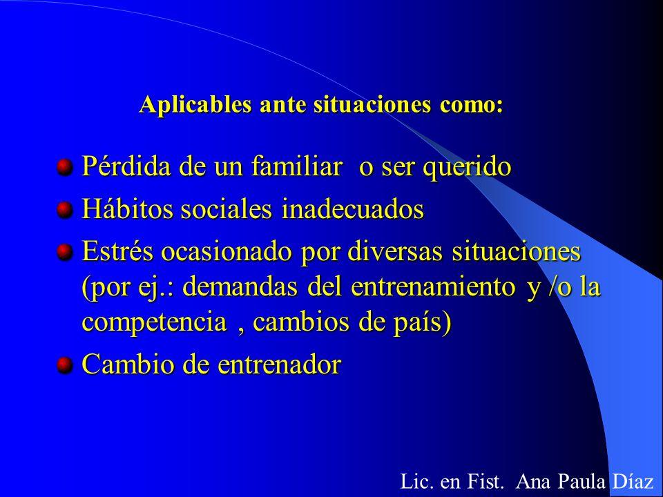 Medios psicológicos Lic. en Ft. Ana Paula Díaz Técnicas de concentración Técnicas de relajación Entrenamiento Autógeno Técnicas de inducción a un prea
