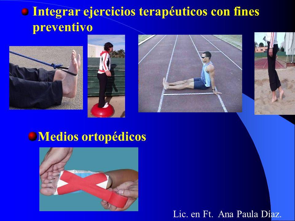 Evaluaciones sistemáticas (al inicio y durante el proceso de entrenamiento) Factores físicos: locales generales Medios médicos Lic. en Fist. Ana Paula