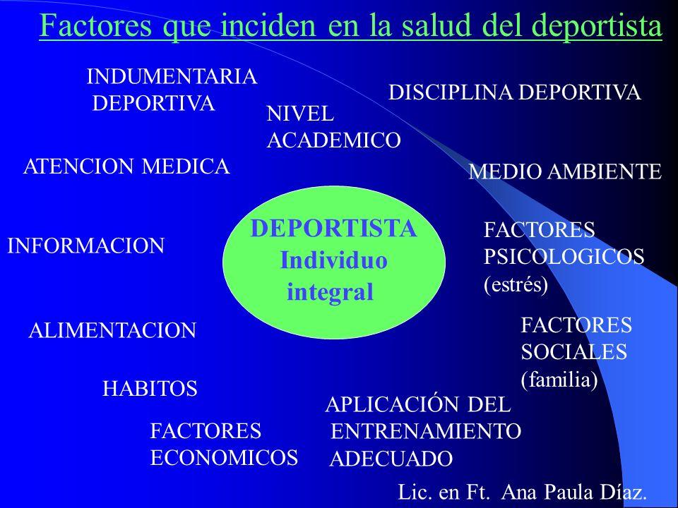Lic. en Ft. Ana Paula Díaz. PREVENCION DE LESIONES EN CORREDORES DE MEDIO FONDO y FONDO