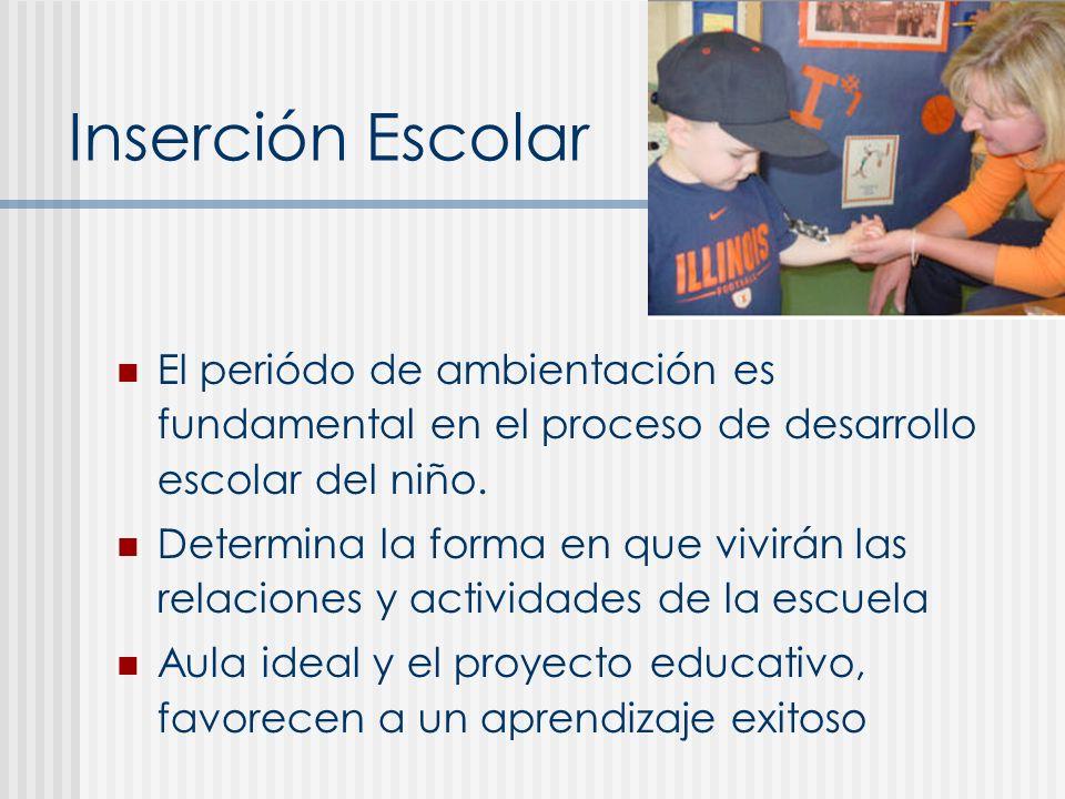 Inserción Escolar Rechazo extrovertido: excitaci ó n expresada con agresividad.