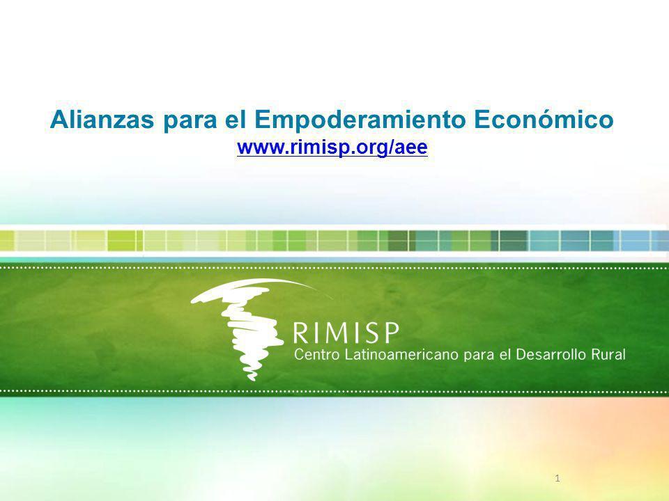 1 Alianzas para el Empoderamiento Económico www.rimisp.org/aee