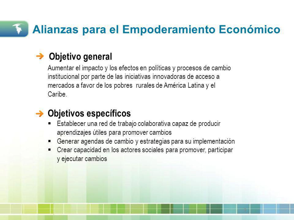 3 Objetivo general Aumentar el impacto y los efectos en políticas y procesos de cambio institucional por parte de las iniciativas innovadoras de acces