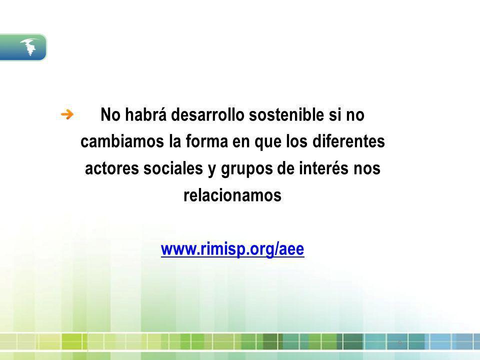9 No habrá desarrollo sostenible si no cambiamos la forma en que los diferentes actores sociales y grupos de interés nos relacionamos www.rimisp.org/a