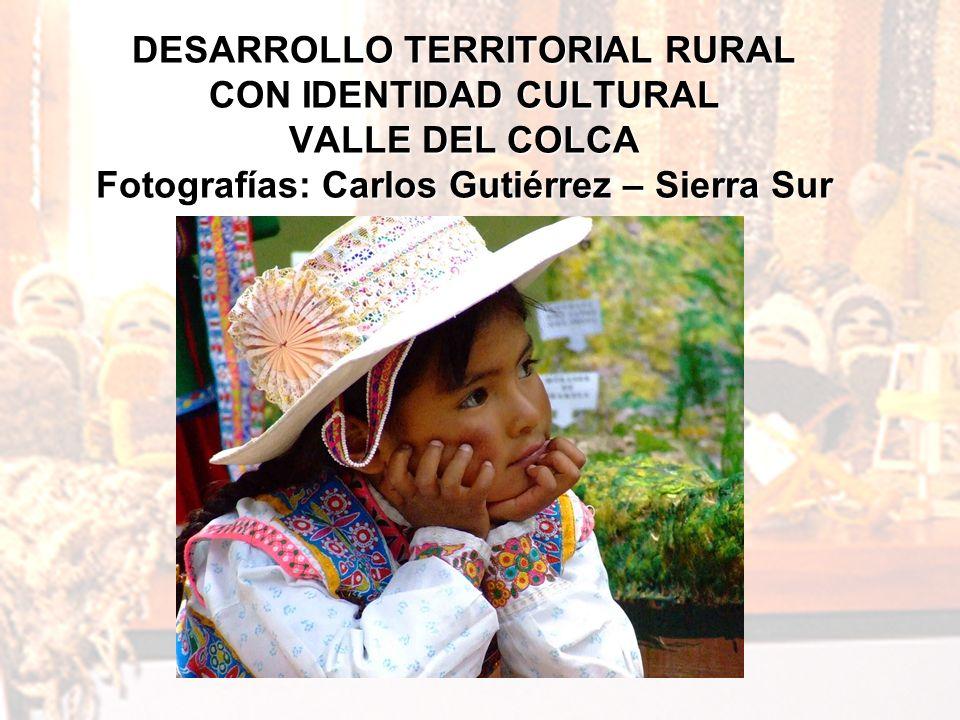 PROYECTO SIERRA SUR IEP Instituyo de Estudios Peruanos PROYECTO SIERRA SUR 14 DESARROLLO TERRITORIAL RURAL CON IDENTIDAD CULTURAL VALLE DEL COLCA Foto
