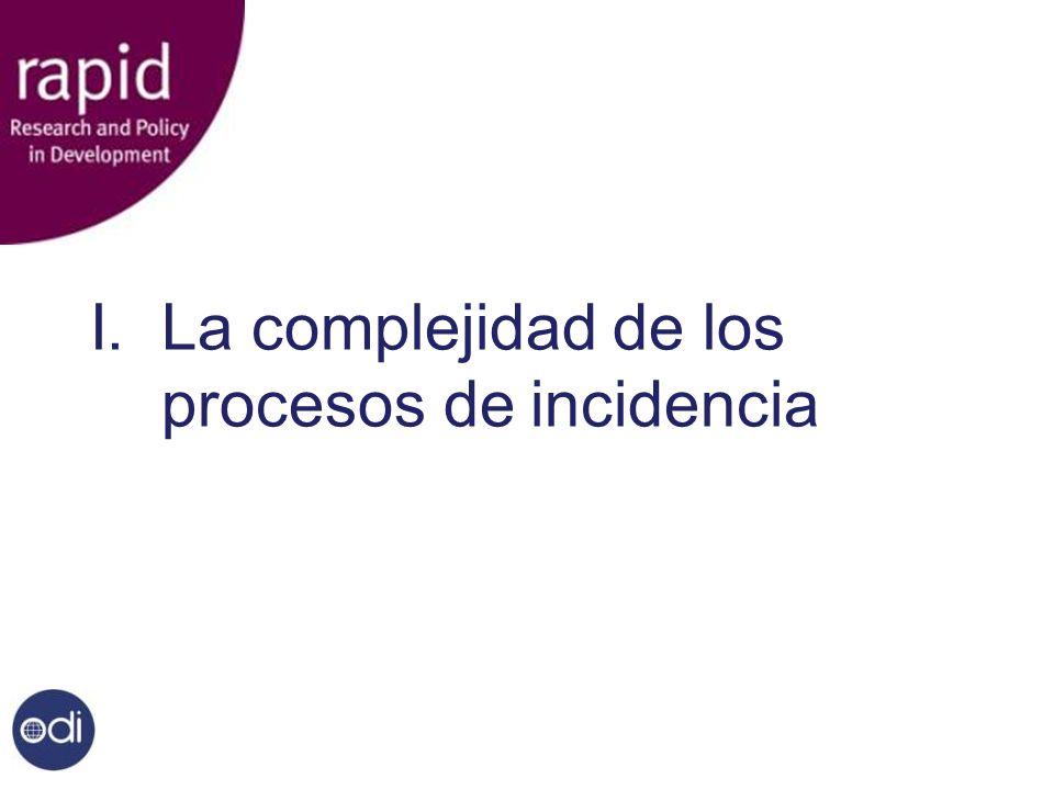 I. La complejidad de los procesos de incidencia
