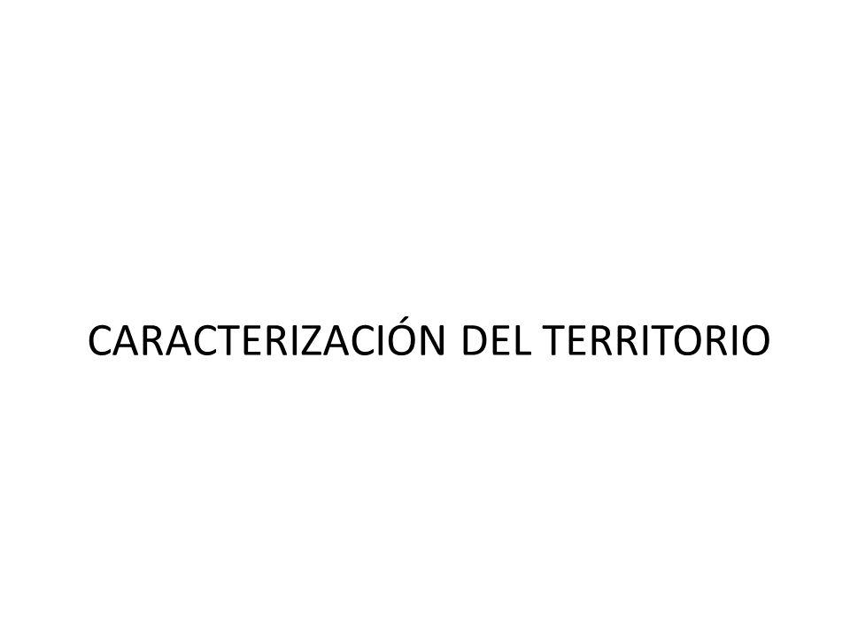 CARACTERIZACIÓN DEL TERRITORIO