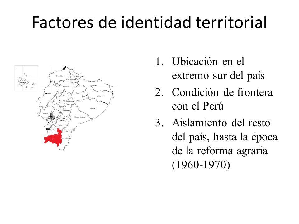 Factores de identidad territorial 1.Ubicación en el extremo sur del país 2.Condición de frontera con el Perú 3.Aislamiento del resto del país, hasta l