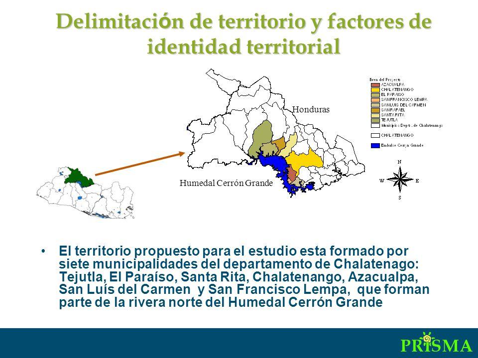 El territorio ha sido impactado por el desarrollo de megaproyectos que han estructurado espacial y socialmente al territorio: la construcción de la represa hidroeléctrica Cerrón Grande (1977) desplazó un número significativo de pobladores desarticulando la vida social y productiva de la zona.