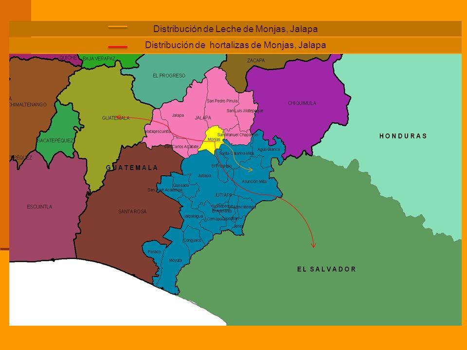 Distribución de hortalizas de Monjas, Jalapa Distribución de Leche de Monjas, Jalapa