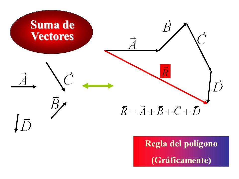 Suma de Vectores Regla del polígono (Gráficamente)