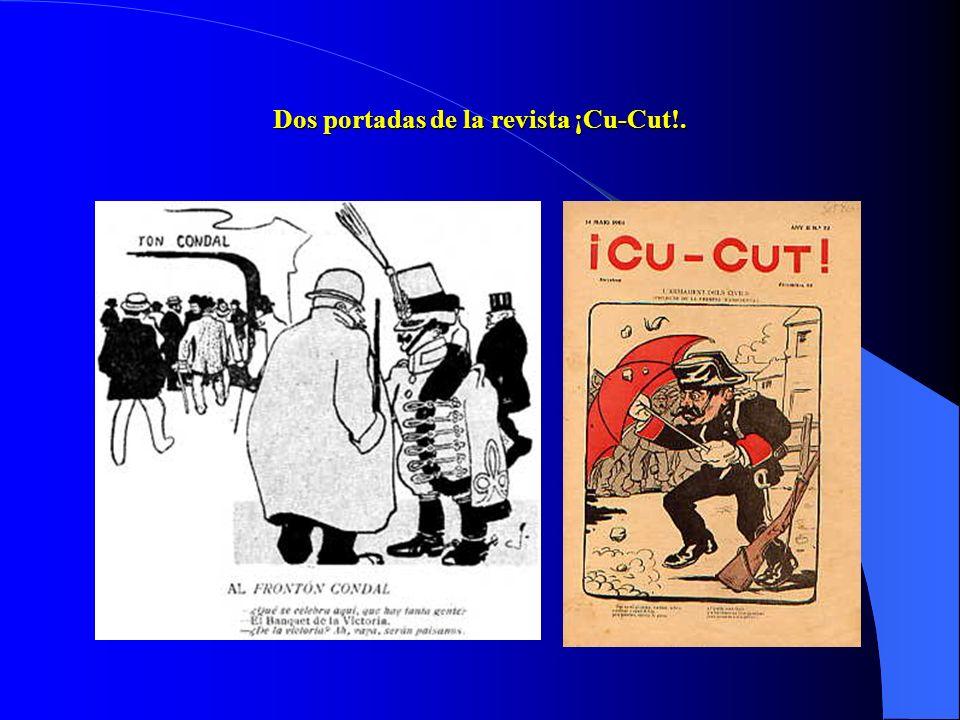 b) El problema de los nacionalismos y su choque con el problema militar. Tras el 98 la alta burguesía catalana se une a la corriente catalanista: fund
