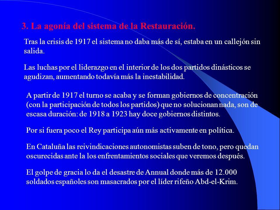 (…) En el reinado de Alfonso XIII, el año 1917 representa una fecha crucial, como lo es, para la Segunda República, la del año 1934. En uno y otro cas