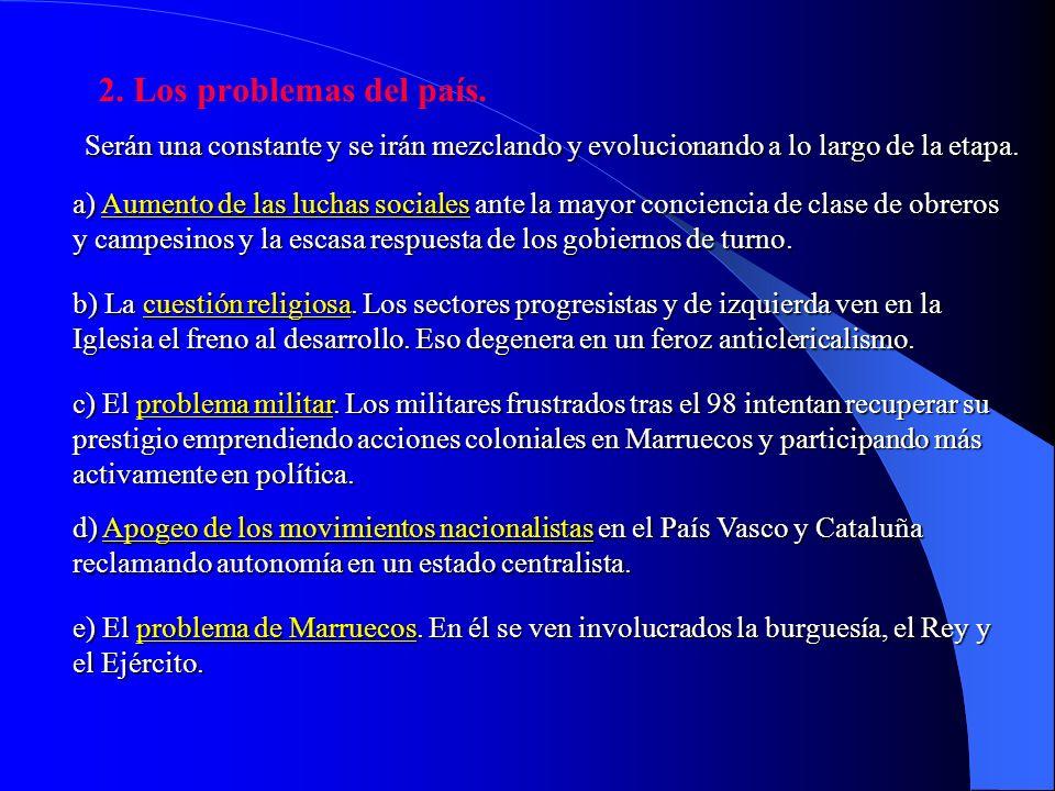I. REGENERACIONISMO Y REVISIONISMO POLÍTICO. EVOLUCIÓN POLÍTICA DE 1902 A 1914. 1.Características de la vida política: la inestabilidad permanente. Ex