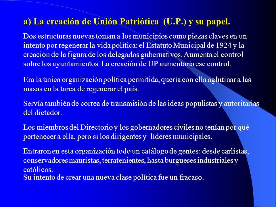 4. El Directorio Militar. Es un gobierno integrado por militares y presidido por Primo de Rivera. Dura entre septiembre de 1923 y diciembre de 1925. E