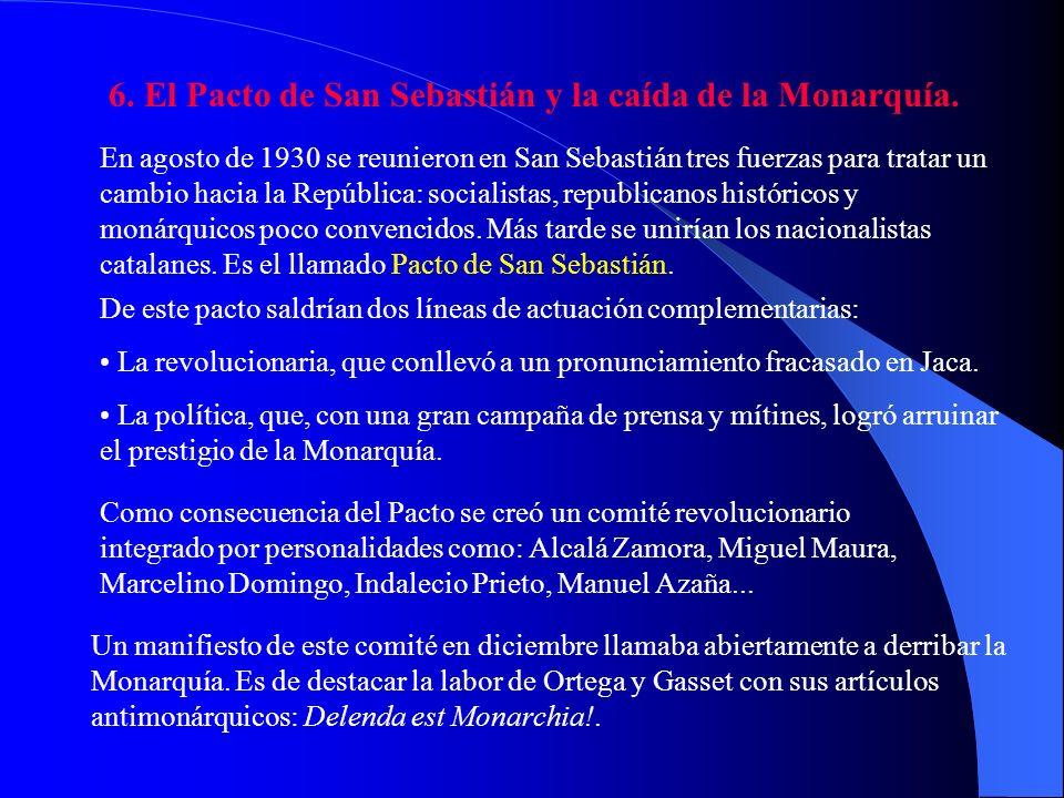 5. La oposición a la Dictadura. Primo de Rivera resolvió el problema de Maruecos, las luchas sociales estaban acalladas por la bonanza económica, pero