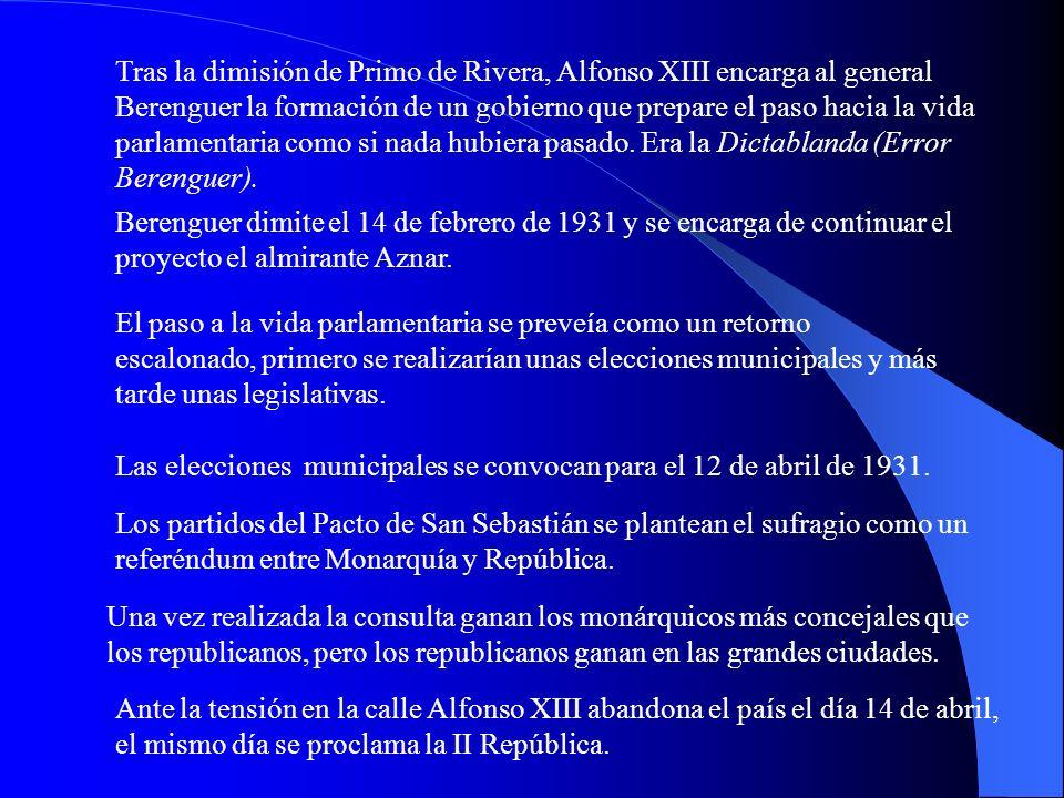 6. El Pacto de San Sebastián y la caída de la Monarquía. En agosto de 1930 se reunieron en San Sebastián tres fuerzas para tratar un cambio hacia la R