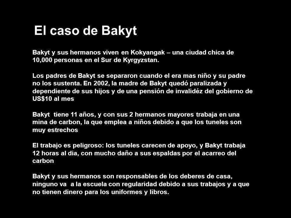 El caso de Bakyt Bakyt y sus hermanos viven en Kokyangak – una ciudad chica de 10,000 personas en el Sur de Kyrgyzstan. Los padres de Bakyt se separar