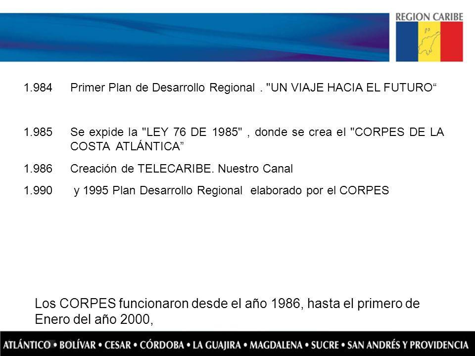 1.984 Primer Plan de Desarrollo Regional.