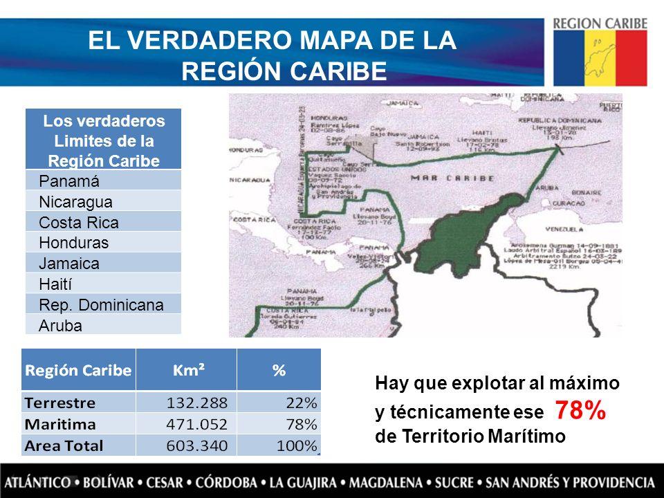 EL VERDADERO MAPA DE LA REGIÓN CARIBE Los verdaderos Limites de la Región Caribe Panamá Nicaragua Costa Rica Honduras Jamaica Haití Rep. Dominicana Ar