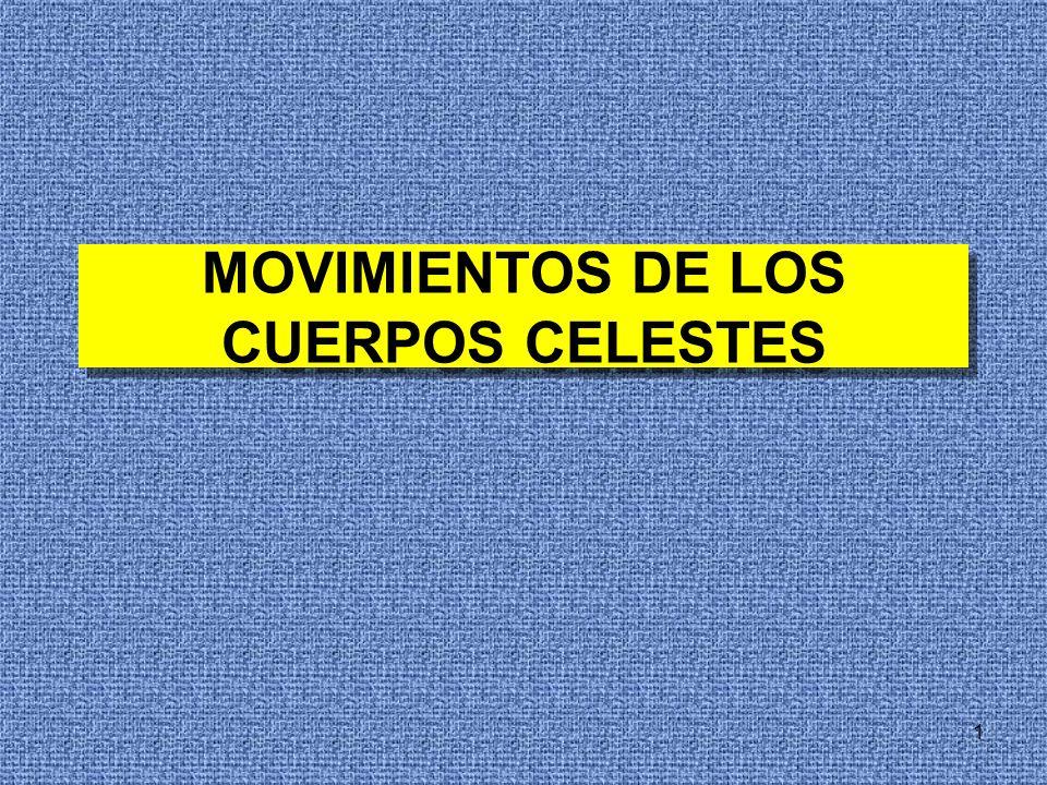 1 MOVIMIENTOS DE LOS CUERPOS CELESTES