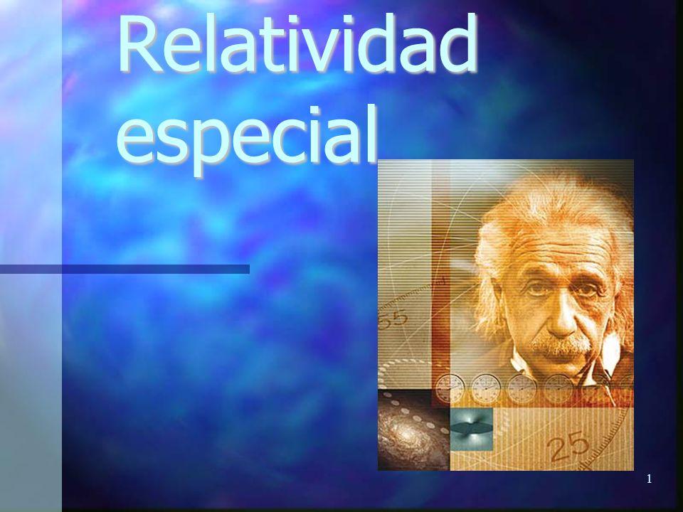 1 Relatividad especial