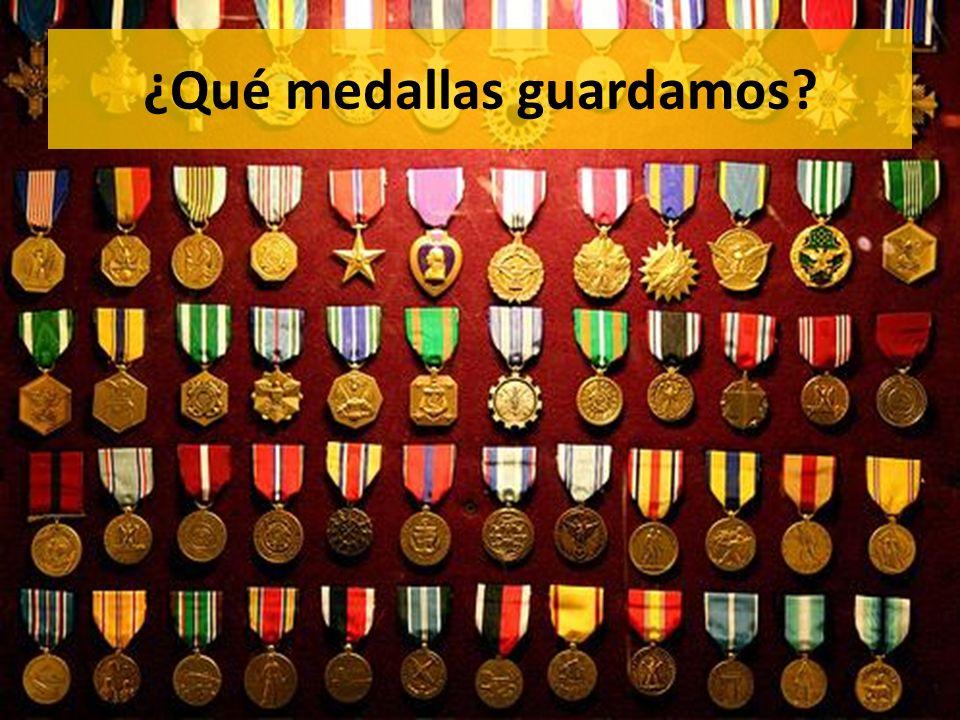 ¿Qué medallas guardamos?