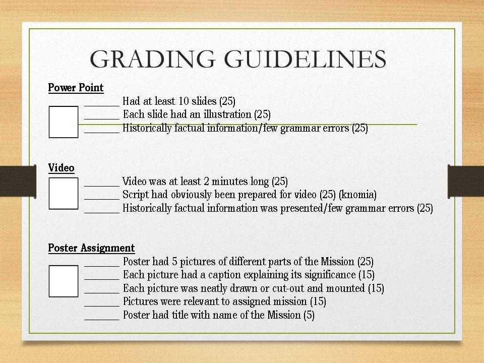 GRADING GUIDELINES